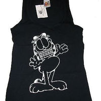 Black Garfield Tank top With Braces Size M - We Got Character