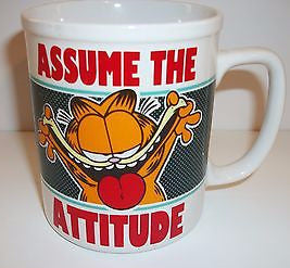 Garfield Assume the Attitude Coffee Cup - Simply Garfield