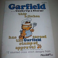 Garfield Cooks Up A Storm! Cross Stitch Book - Simply Garfield