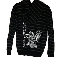 Garfield Black Multi Colored Striped Sweat Jacket - Simply Garfield