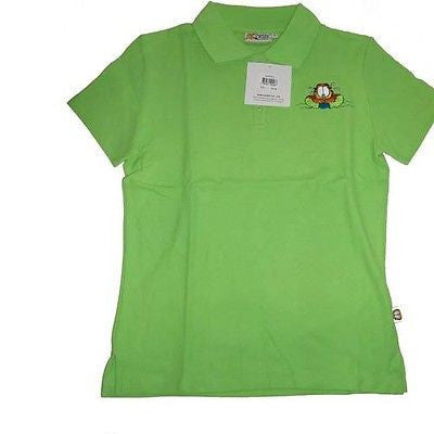 Garfield Green Rafting Polo Shirt Size Large-We Got Character
