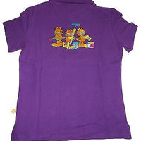 Garfield Purple Polo Shirt Size L -Simply Garfield