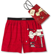 Mens Red Peanuts Snoopy Boxers Shorts Valentines - We Got Character