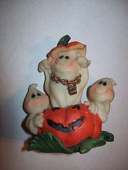 Halloween Figurine with Pumpkin and 3 Ghosts - We Got Character