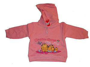 Garfield Pink Long Sweatshirt Hoodie-We Got Character