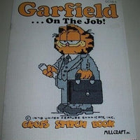 Garfield On The Job Cross Stitch Book-We Got Character