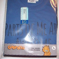 Mens Pajama Short Set TVM Size L Parts Of Me Are - Simply Garfield