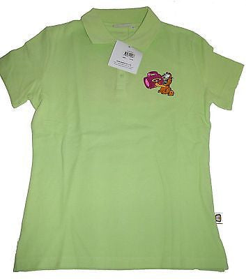 Garfield Green Polo Shirt AHHH Size L-We Got Character