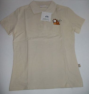 Garfield Beige Polo Shirt Size Large - We Got Character