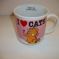 Garfield Coffee Cup I Love Cats-We Got Character