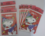 Lot Of 101 Peanuts Jazzin Snoopy Birthday Party Treat Sacks, Goody Bags - We Got Character