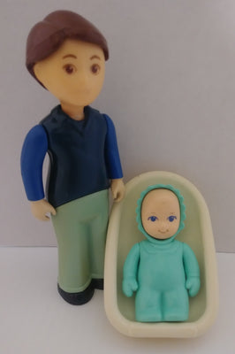 Two Little Tikes Dollhouse People With Carrier-We Got Character