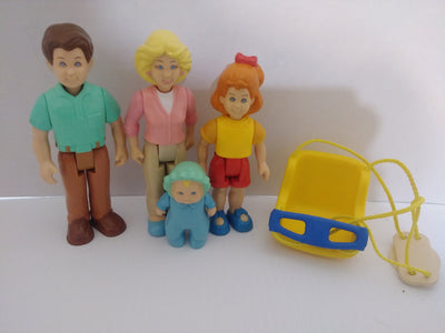 Four Little Tikes Dollhouse People with Baby Swing - We Got Character