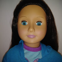 Our Generation Doll Long Brunette Hair & Blue Eyes-We Got Character