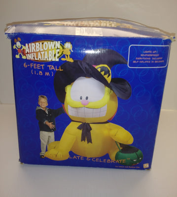 Gemmy 6' Garfield Halloween Witch Airblown  Inflatable