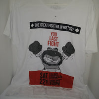 White Garfield The Greatest Fighter T-Shirt-We Got Character