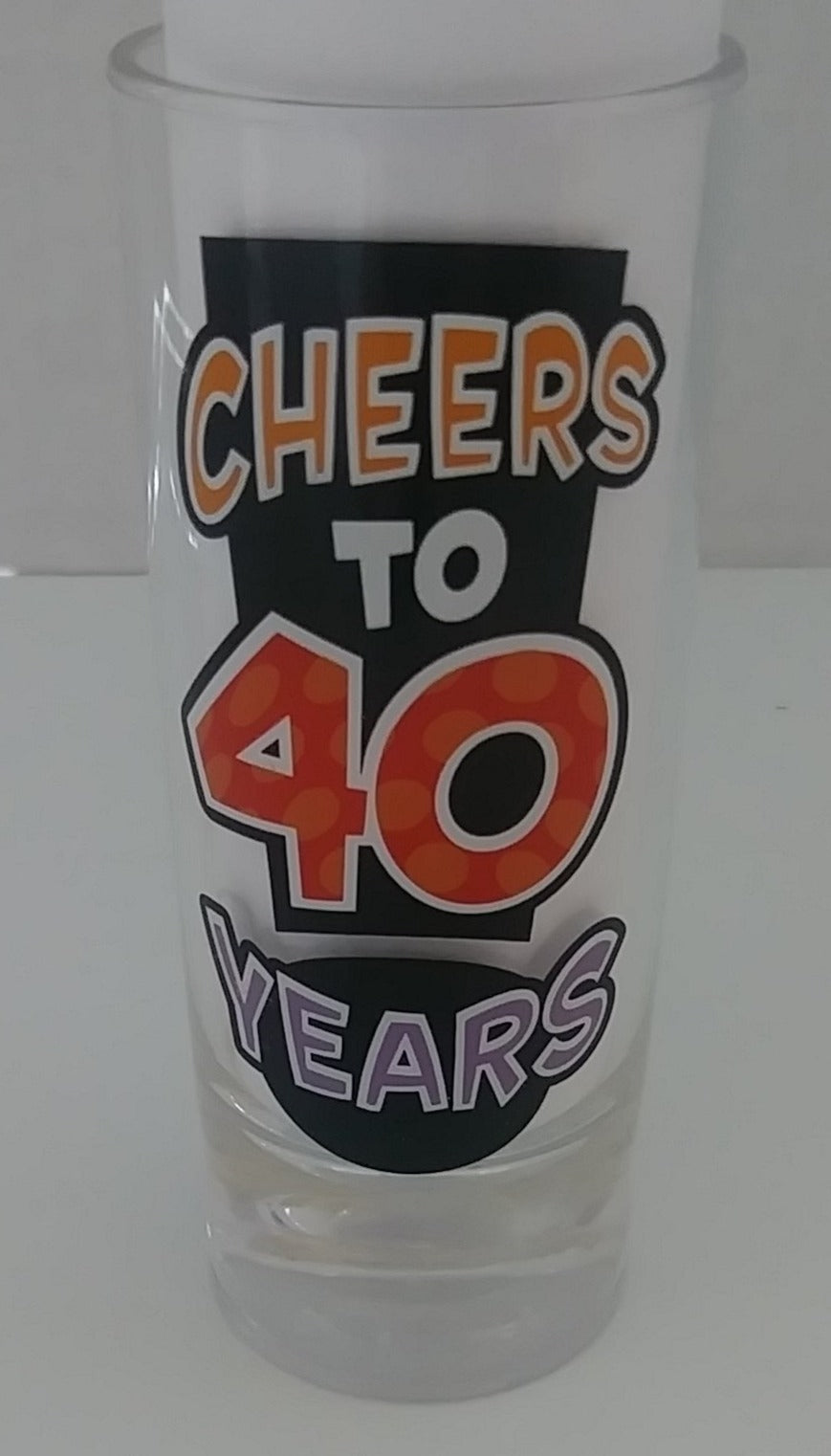 40 Year Old Shot Glass-wegotcharacter.com