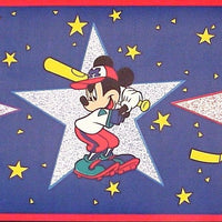 Disney Mickey Mouse Sports Wallpaper Border-We Got Character