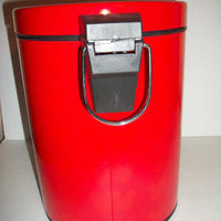 Mickey Mouse Red Metal Step on Trash Can Disney