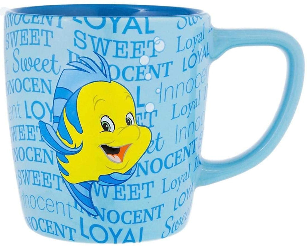Disney Parks My Little Mermaid Personality Flounder Ceramic Coffee Mug - 12 Ounce