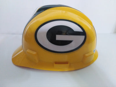 MSA NFL V-Gard Green Bay Packers Football Hard Hat - We Got Character