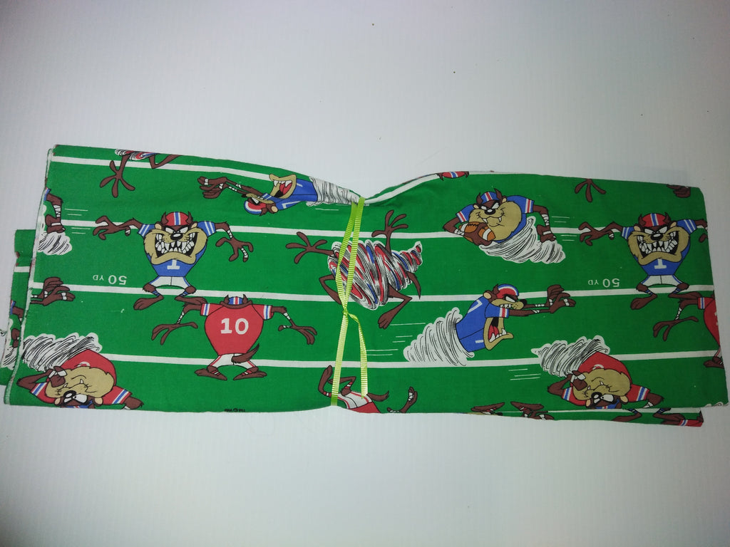 Looney Tunes Tasmanian Devil Football Fabric - We Got Character