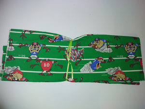 Looney Tunes Tasmanian Devil Football Fabric-We Got Character