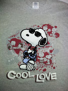 Snoopy Cool Love Valentine XL T-Shirt - We Got Character