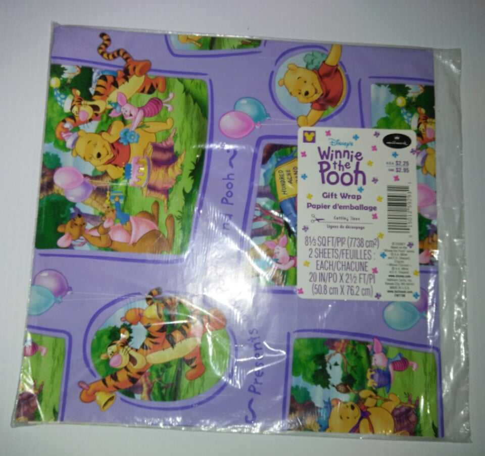 Disney Winnie The Pooh Wrapping Papper Birthday-We Got Character