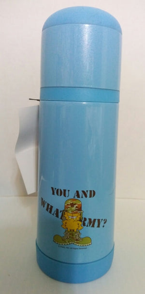 Blue Garfield Thermos You and What Army? - We Got Character