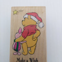 Pooh Make A Wish Wooden Stamper-We Got Character