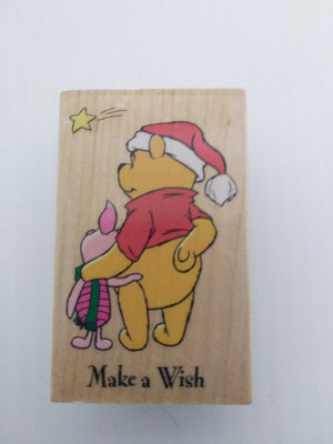 Pooh Make A Wish Wooden Stamper - We Got Character