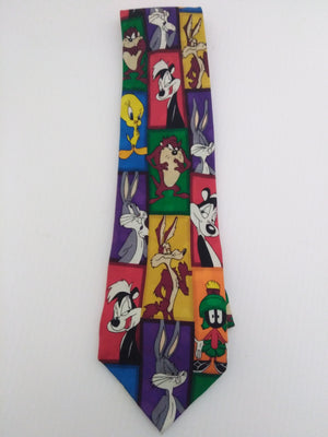 Multicolored Looney Tunes Tie-We Got Character