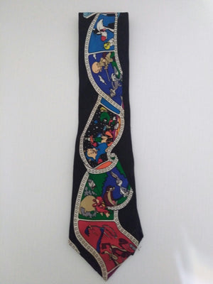 Black Looney Tunes Tie-We Got Character