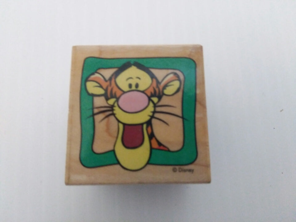 Tigger Frame Wooden Rubber Stamp-We Got Character