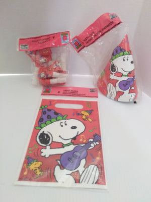 Vintage Peanuts Snoopy Woodstock Jazzin Birthday Party Supplies-We Got Character