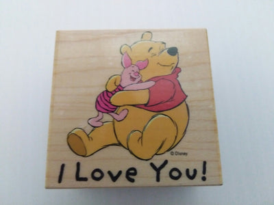 I Love You Pooh Wooden Rubber Stamper - We Got Character