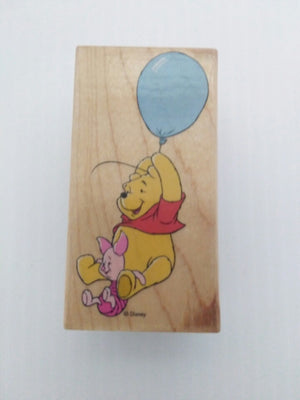 Fly High Pooh & Piglet Wooden Stamper - We Got Character