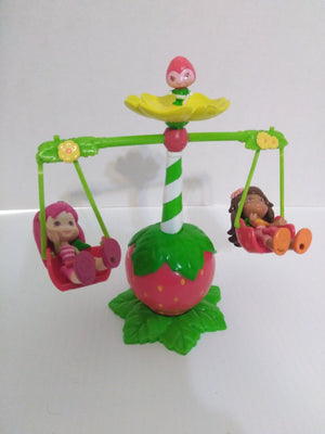 Hasbro Strawberry Shortcake Swing Set with Orange Blossom, Raspberry Torte-We Got Character