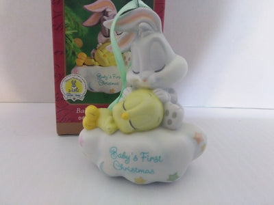 Hallmark Bugs Bunny Tweety Baby's First Christmas Ornament-We Got Character