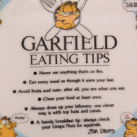 Garfield Eating Tips Plate Sample-We Got Character
