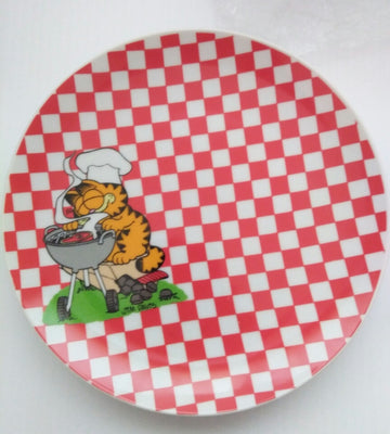 Garfield Barbeque Grill Plate Sample