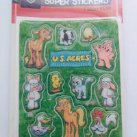 U. S. Acres Puffy Stickers Jim Davis-We Got Character