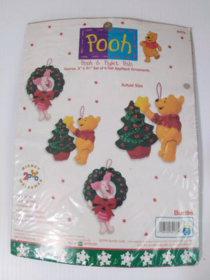 Winnie the Pooh & Piglet Pals Ornament Bucilla Felt Craft Kit #84176-We Got Character