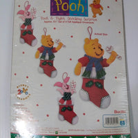 Winnie the Pooh & Piglet Stocking Surprise Felt Ornament Kit By Bucilla #84172-We Got Character