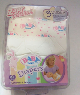 Baby Born Doll Diapers