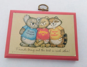 Hallmark Shirt Tales Wooden Wall Plaque Picture-We Got Character