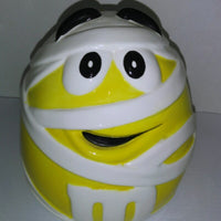M&M's Yellow Mummy Ceramic Halloween Candy Cookie Jar-We Got Character