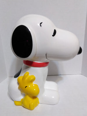 Snoopy & Woodstock Ceramic Bank-We Got Character