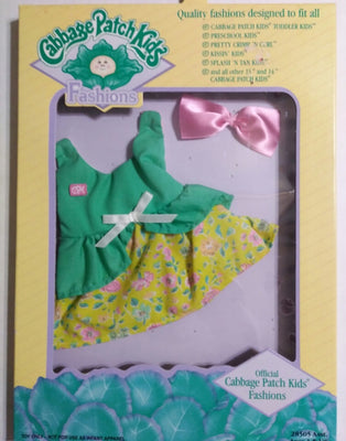 Cabbage Patch Green Dress Outfit-We Got Character